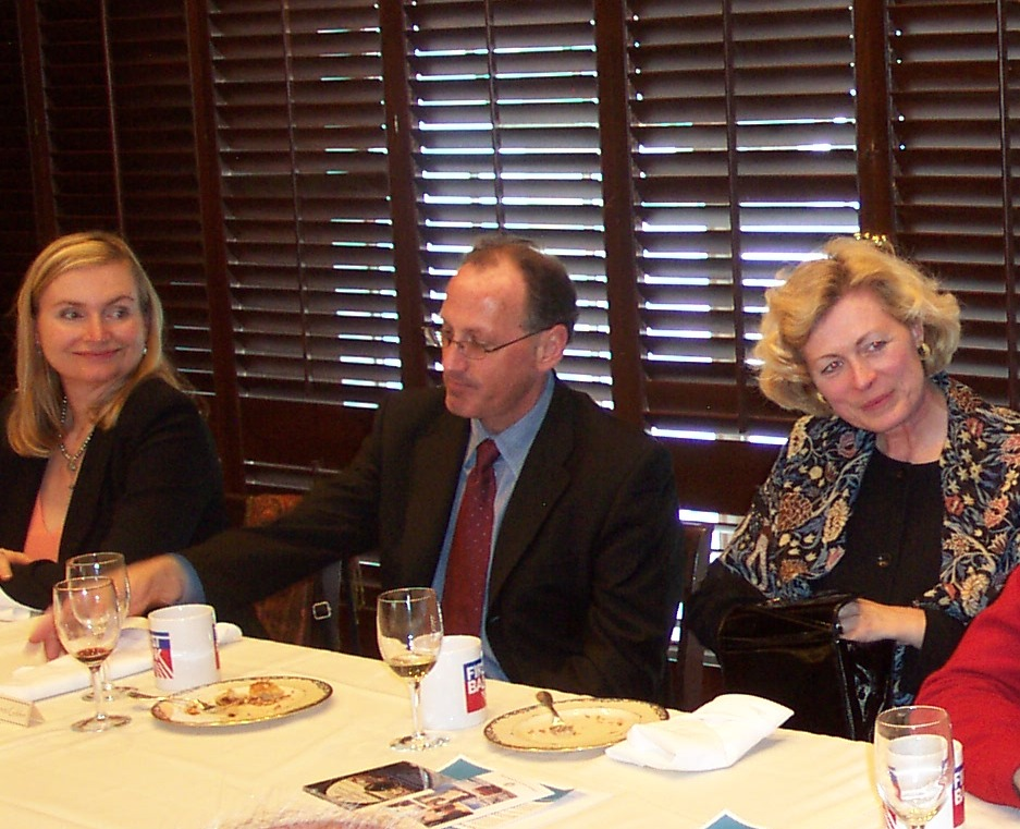 From left, Janice Cooper, President, Pacific Resources, Everett Golden, President, Otis McAllister, Inc., and Susanne Stirling, Vice President, CalChamber listen to other colleagues at the CCIT reunion.