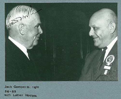 Jack Gomperts, CCIT Founding member and Chair 1966 - 1969 with Deputy Secretary Luther H. Hodges Jr., US Department of Commerce (1980 - 1981)