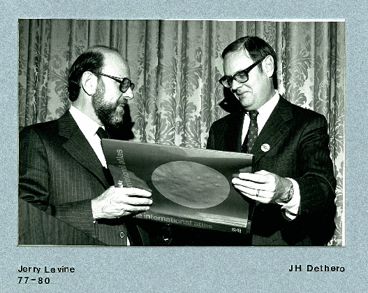 Jerry Levine, CCIT Chair 1977 - 1980 with J.H. Dethero, CCIT Chair 1975 - 1977