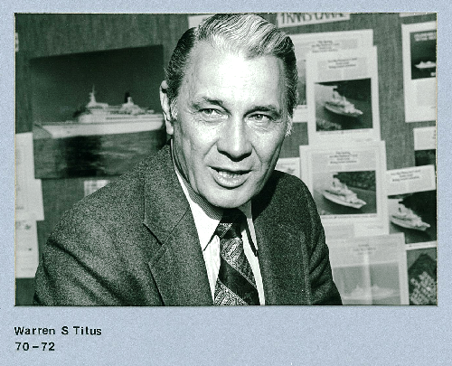Warren S. Titus, CCIT Chair 1970 - 1972 and Founder, Royal Viking Line San Francisco