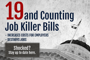Legislative Update: Fiscal Committees Clear Files; One Job Killer Held in Committee