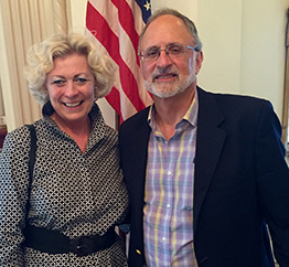 Susanne Stirling and Ambassador Charles Shapiro.