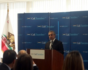 Ambassador of the Republic of Singapore to the United States Ashok Kumar Mirpuri speaks at a California Chamber of Commerce-sponsored luncheon celebrating Singapore's 50th National Day on October 6, 2015. Photo by Sara Espinosa