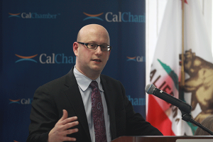 California Department of Finance Director Michael Cohen presents CalChamber luncheon attendees with an overview of the Governor's proposed 2016–17 budget
