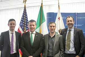 From left: Voxpro Managing Director Aidan O'Shea, Irish Minister for the Environment, Community and Local Government Alan Kelly, Voxpro USA Director Philip McNamara, and Irish Consul General in San Francisco Philip Grant.