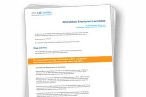 CalChamber Releases 2016 Midyear Employment Law Update