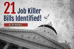 Senate Labor Committee to Hear Two Job Killer Bills Today