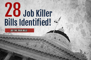 Job Killer Update: Employment-Related Bill Amended and Removed from List