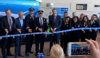 United Airlines Ribbon Cutting