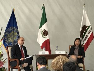 Sergio Alcocer, Mexico's former Undersecretary of North America and COMEXI Board Member, and Lt. Governor Eleni Kounalakis