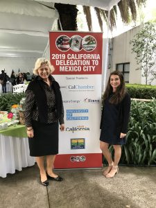 CalChamber participants in the mission to Mexico: Susanne Stirling (left), VP International Affairs, and Nikki Ellis, International Affairs Assistant.