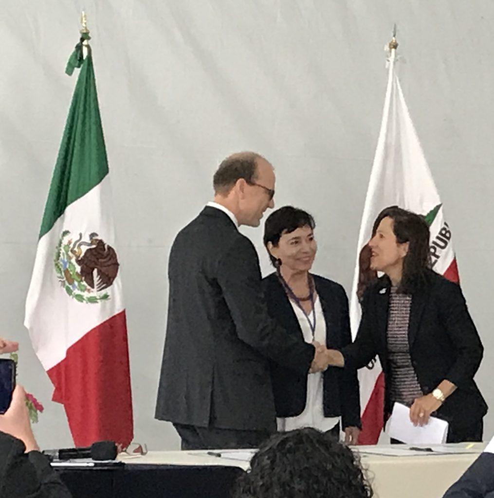 Lt. Governor Eleni Kounalakis,  Andrew McAllister, Marina Robles