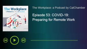 COVID-19: Preparing for Remote Work