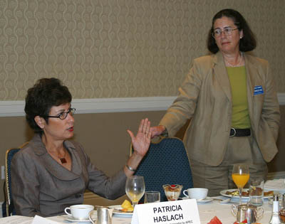 Patricia Haslach, U.S. ambassador to APEC, and Susan Corrales-Diaz, chair, CalChamber Council for International Trade