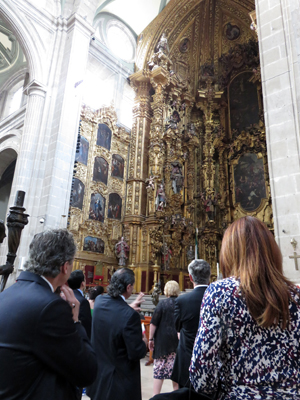 Delegates visit the Cathedral of the Assumption of Mary.