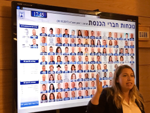 tour-guide-explaining-the-120-members-of-the-knesset---Anat-Katz---works-at-the-Knesset