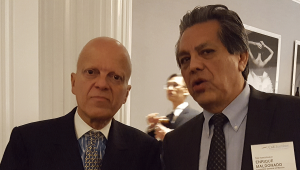Chilean Consul General Enrique Barriga Larrain, Mexico's Consul Enrique Maldonado